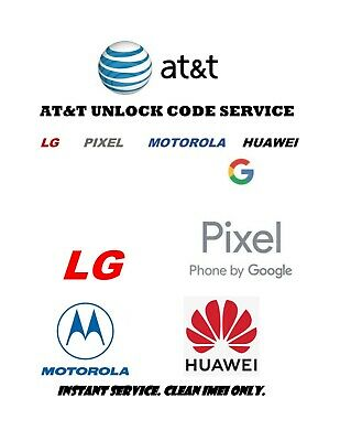 AT-T USA Network Unlock Code for LG Motorola Google Pixel Clean IMEIs only