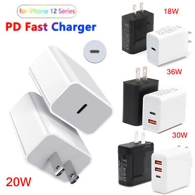 30W20W18W USB Type-C Wall Fast Charger PD Power Adapter For iPhone 12 Pro Max