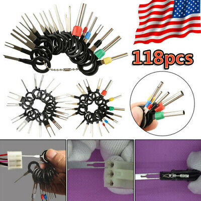118Pcs Car Terminal Removal Tool Kit Wire connector Pin Release Extractor Puller