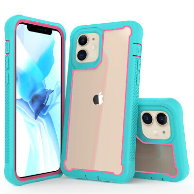For iPhone 12 Pro 12 Mini 12 Pro Max 5G Case Shockproof Hard Rubber Clear Cover