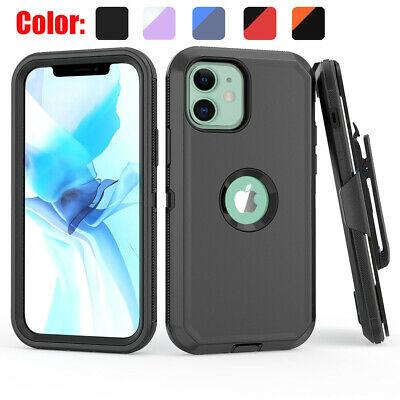 For iPhone 12 Mini12 Pro12 Pro Max Case Shockproof Stand Belt Clip Armor Cover