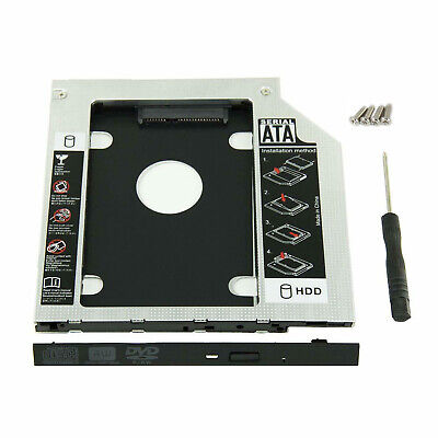 NEW 9-5mm Universal SATA 2nd HDD SSD Hard Drive Caddy for CDDVD-ROM Optical Bay