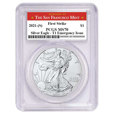 2021 (S) $1 American Silver Eagle PCGS MS70 Emergency Issue FS San Francisco Lab