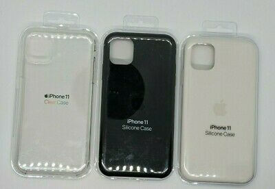 iPhone 11 Silicon Case - White Black Clear