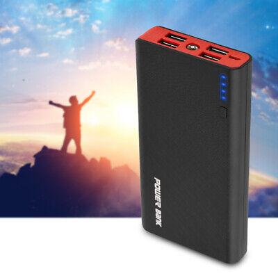 Solar Power Bank 20000mAh Portable 4 USB External Battery Charger For Cell Phone