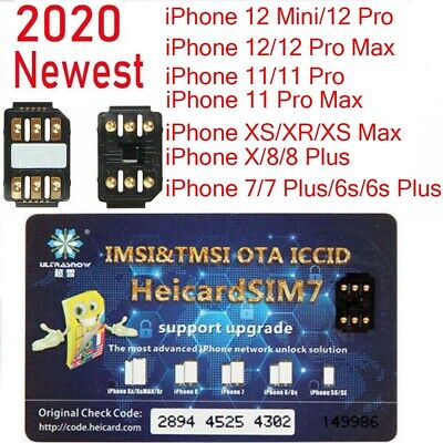 Heicard Turbo unlock Chip Sim Card For Apple iPhone 1211XR88 Plus76S Plus