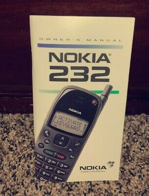 Vintage Nokia 232 Owners Manual - Vintage Nokia Manual