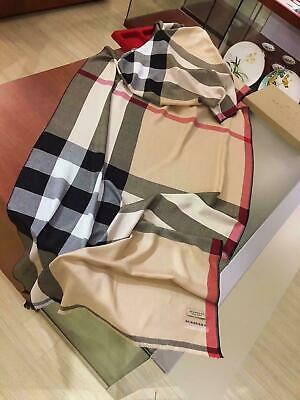 High quality classic lady autumnwinter cashmere BURBERRY Classic scarf