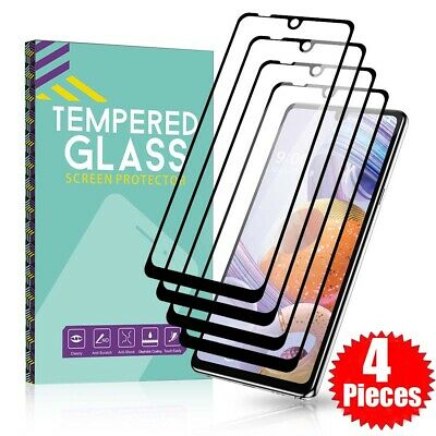 4 Pack For LG Stylo 654- Full Cover Tempered Glass Film Screen Protector