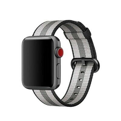 Apple 38mm Woven Nylon Band for 38mm and 40mm Apple Watches - Black Stripe