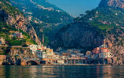 Beautiful landscape scenery picture Italy
