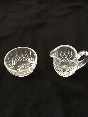 One Set of Waterford Crystal Sugar and Creamer Lismore Pattern