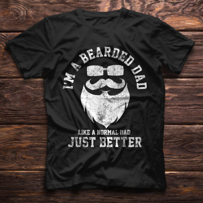 Im A Bearded Beard Dad Funny Fathers Day Gift Men T Shirt  M-3XL