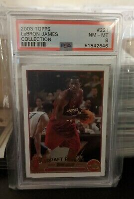 2003 Topps LeBron James COLLECTION Future HOF ROOKIE RC 221 PSA 8 NM-MT