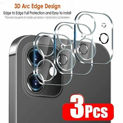 3Pcs Full Cover Tempered Glass Camera Len Screen Protector for Iphone 12 Pro Max