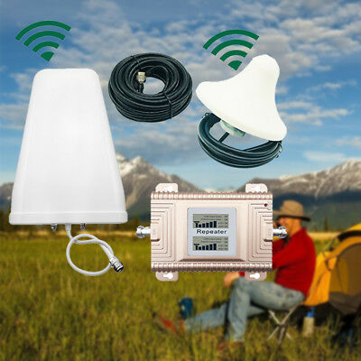 8501900MHz  Dual Band Cell Phone Signal Booster Amplifier Repeater with Antenna