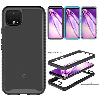 For Google Pixel 4XL 4 Phone Case Clear Rugged Shockproof Armor Defender Cover