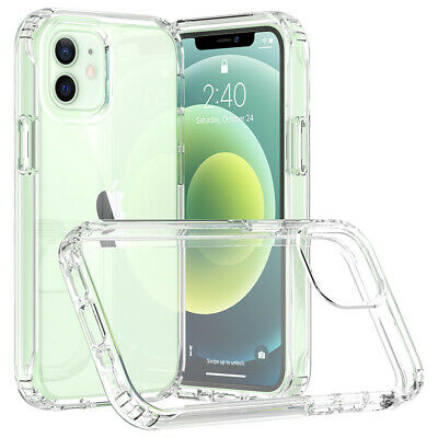 For iPhone 1112 Mini12 Pro12 Pro Max Case Clear Shockproof Impact Phone Cover