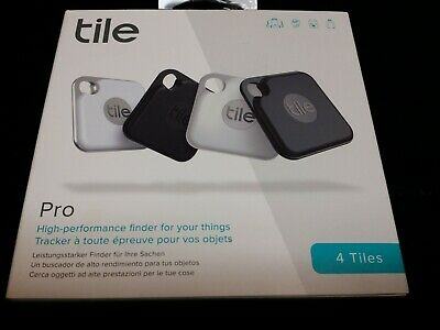 Open Package Tile Pro 2020 4-pack Bluetooth Tracker Key Finder - Locater