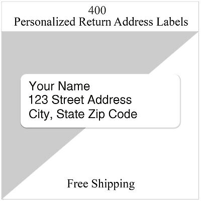 400  Return Address Labels Personalized Printed Custom  12 x 1 34 Inch