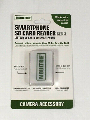 Moultrie Gen 3 Smartphone SD Card Reader MCA-13488 - Brand New