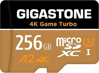 Gigastone 256GB Micro SD Card Prime for FHD Video Smartphone Nintendo Switch