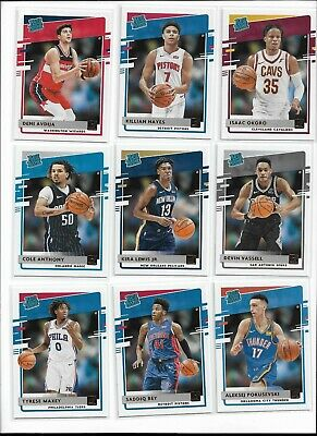 202021 Panini Donruss Basketball Rated Rookie Pick Your Player Complete Set