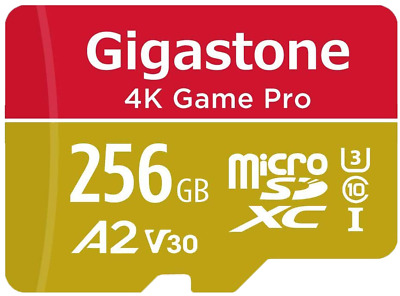 Gigastone 256GB Micro SD Card A2 V30 4K Game Pro Nintendo Switch Compatible App