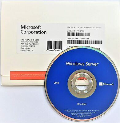 Windows Server 2019 16 Cores Sealed Fast Shipping