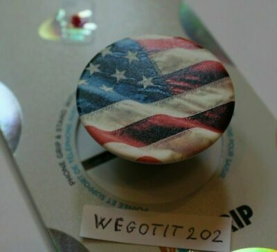 PopSockets Phone Grip American Flag PopGrip PopSocket With Swappable Top