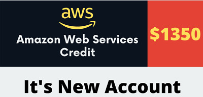 AWS Credit 1350 With New AWS Account Valid 1 Year