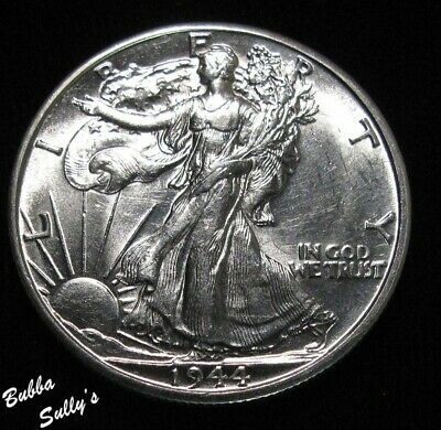 1944 D Walking Liberty Half Dollar <> UNCIRCULATED Details