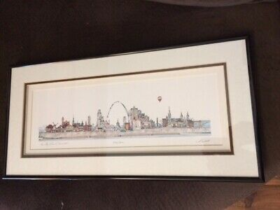 CITY OF ST- LOUIS SKYLINE DOWNTOWN - FRAMED JOHN PILS  SIGNED NUMBERED ART PRINT