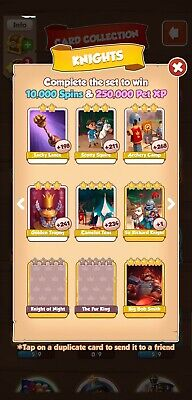 Coin Master Cards Knights set White Cards5 cards