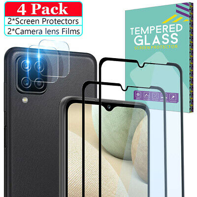 For Samsung Galaxy A12 A02S A21S A52 A32 Tempered Glass Screen -Lens Protector