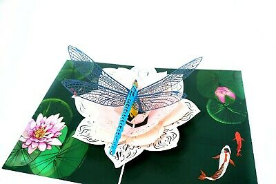 Dragonfly 3D Pop Up Card  Mothers day Love 3D Pop Up  Greeting Card