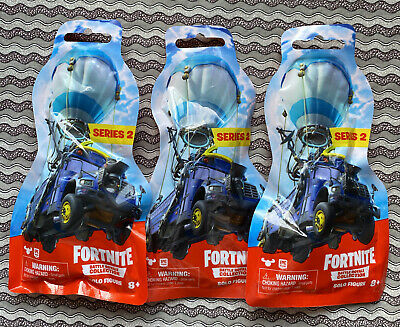 Lot Of 3 Fortnite Series 2 Battle Royale Collection Solo Figures- All Different