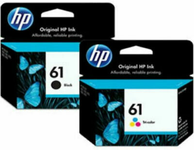 Hot HP 61 2pack Combo Ink Cartridges 61 Black and Color NEW GENUINE