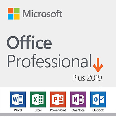 DVD Microsoft Office 2019 Professional Plus  Retail Product Key 1 PC Lifetime