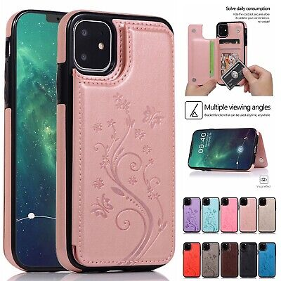 Leather Case For iPhone 11 Pro XS Max XR X 8 7 6Plus Magnetic Wallet Phone Cover
