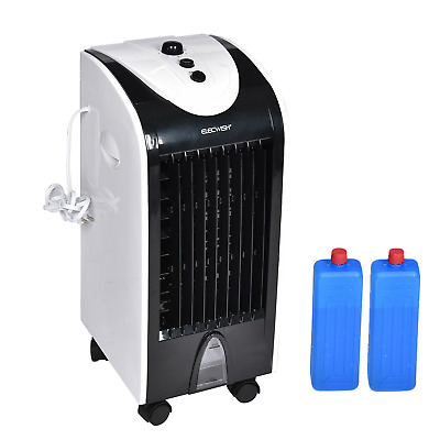 Portable Cooler Fan Mini Air Fan Evaporative Humidifier 3 Speed Cooling Remote