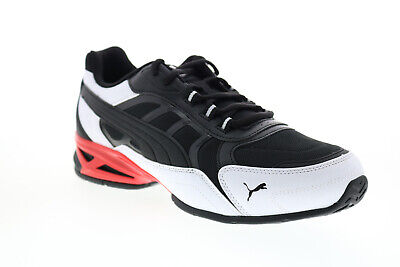 Puma Respin 37489103 Mens Black Mesh Lace Up Lifestyle Sneakers Shoes