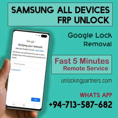 Remote Google Account RemovalReset FRP For All Samsung Devices  Fast 5 Minutes