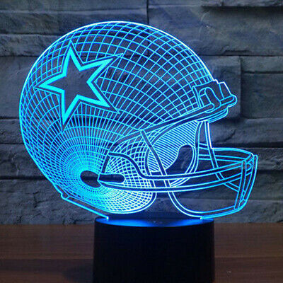 New NFL Dallas Cowboy Football 3D Neon Light Free Rush Shipping from California