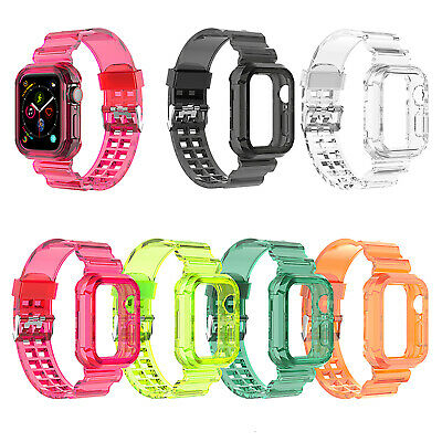 For Apple Watch Series iWatch 6 5 4 3-1 SE 38-44mm Transparent Watch Band Strap