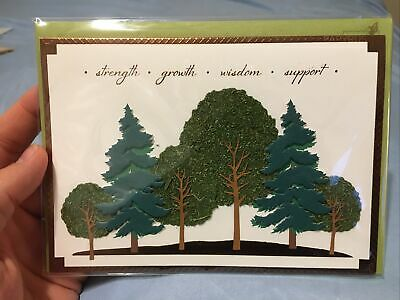 Papyrus Fathers Day Card Trees Strength Growth Wisdom Support