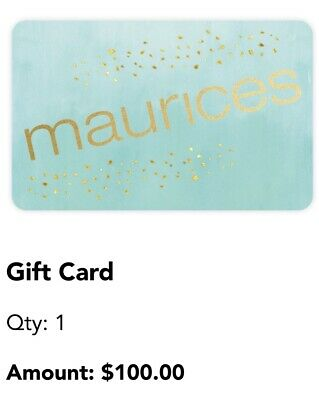 Maurices Gift Card 100 FREE SHIPPING