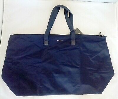 NEW TUMI JUST IN CASE TOTE Midnight Navy Blue Travel Sack 0196384MDT