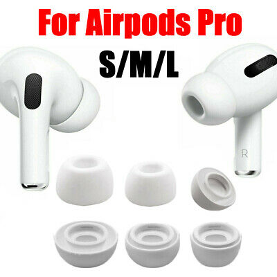 SML For Apple AirPods Pro Replacement  Headset Soft Silicone Ear Tips Covers