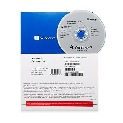 Windows 7 Professional SP1 X64 Bit DVD and Product Key - Sealed